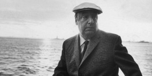 13th June 1966: EXCLUSIVE Chilean poet and activist Pablo Neruda (1904 - 1973) leans on a ship's railing during the 34th annual PEN boat ride around New York City. He wears a cap. (Photo by Sam Falk/New York Times Co./Getty Images)