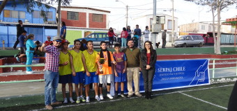 PIE Akapacha de Serpaj Arica realiza V Campeonato de fútbol «Jugando por la Paz»