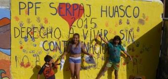 Niños y Niñas de PPF Huasco, de Serpaj Atacama, participan en Jornada de Muralismo Consciente
