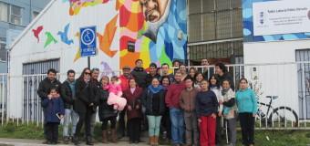 Serpaj Aysén celebra la entrega de mural artístico para el Taller Laboral Pablo Neruda