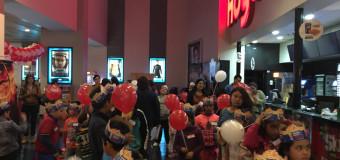 Niños y niñas de Serpaj Antofagasta asistieron por primera vez al cine