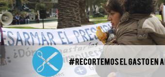 """Serpaj Chile lanza campaña nacional llamada """"Recortemos el Gasto en Armas"""""""