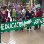 SERPAJ realizó intervenciones públicas en Coquimbo, Vicuña y La Serena para concientizar sobre el gasto en armas