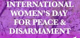 Día Internacional de la Mujer por la Paz y el Desarme