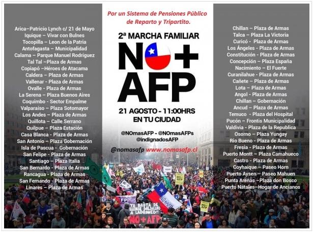 Convocan a nueva marcha No+AFP