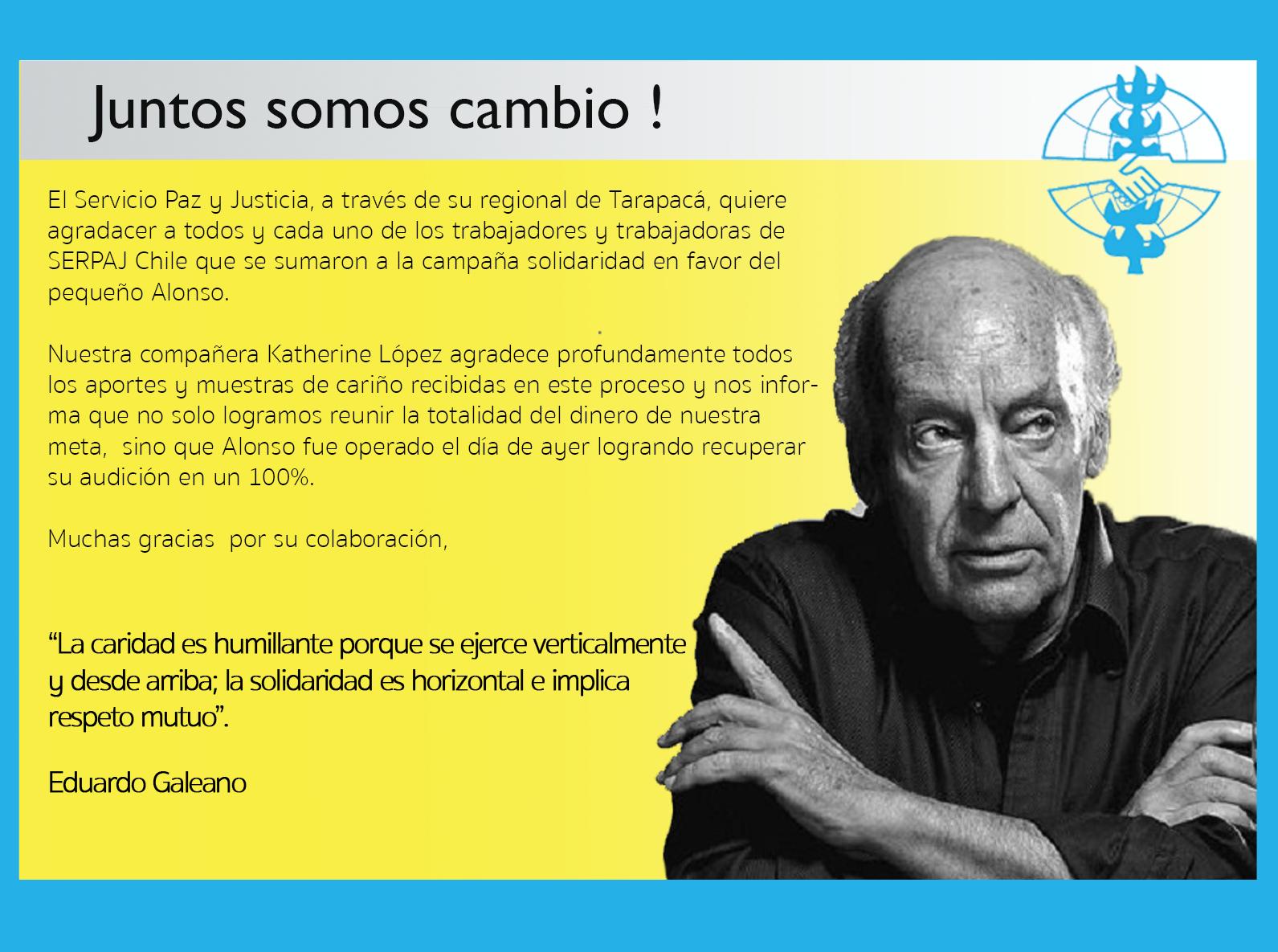 SERPAJ Chile: Juntos somos cambio!