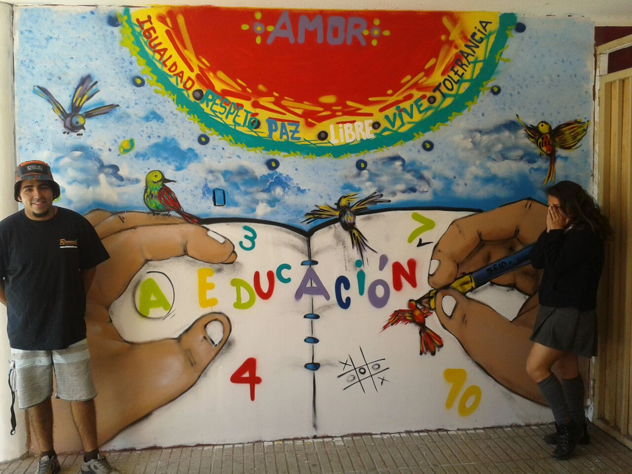 Proyecto de Retención Educando por la Paz de Serpaj Atacama realiza taller de grafitis