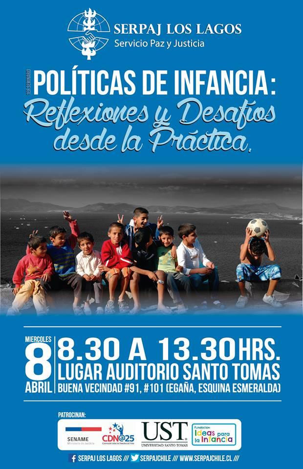 Serpaj Los Lagos realizará seminario sobre Políticas de Infancia en Puerto Montt
