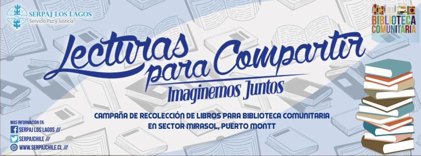 Continúa campaña de Serpaj Los Lagos que busca implementar biblioteca comunitaria en Puerto Montt