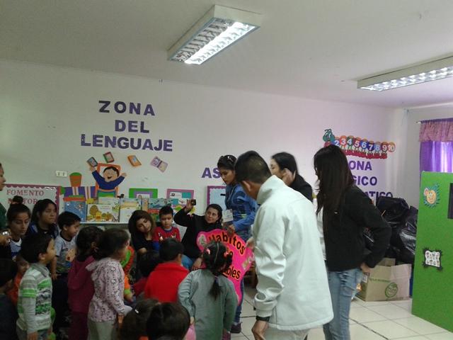SBC Luis Pérez Aguirre de Serpaj Tarapacá realiza actividad de vida saludable en jardín infantil