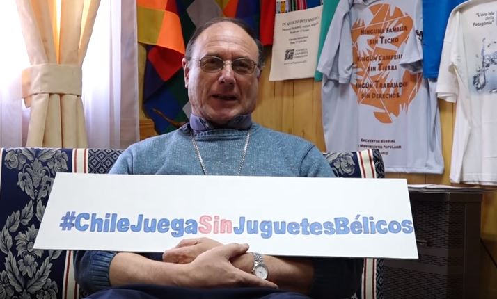 Obispo de Aysén, Luis Infanti, se suma a la 30va Campaña de Navidad de Serpaj Chile