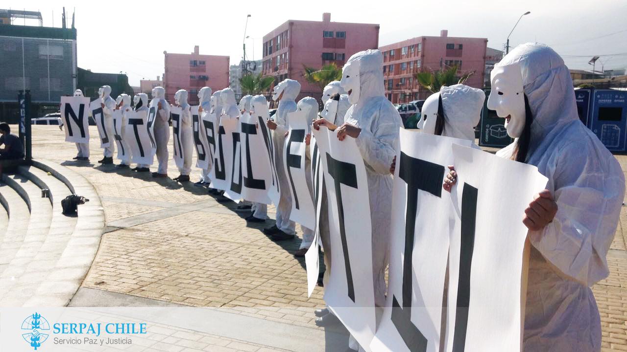 SERPAJ Antofagasta: Invisibles por la paz se manifiestan contra el Trabajo Infantil