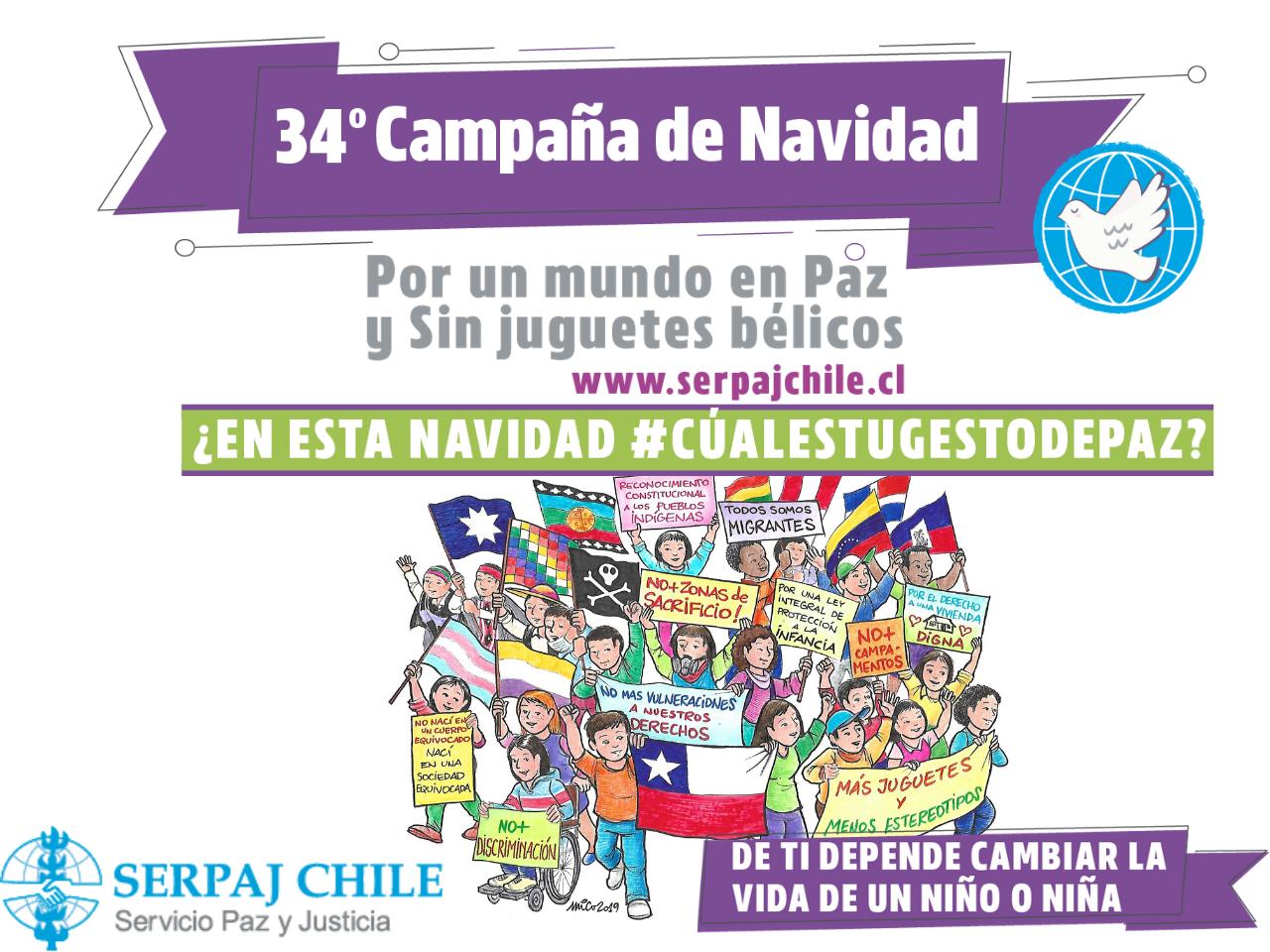 SERPAJ Chile lanza Campaña de Navidad que visibiliza  los derechos de los niños, niñas y adolescentes