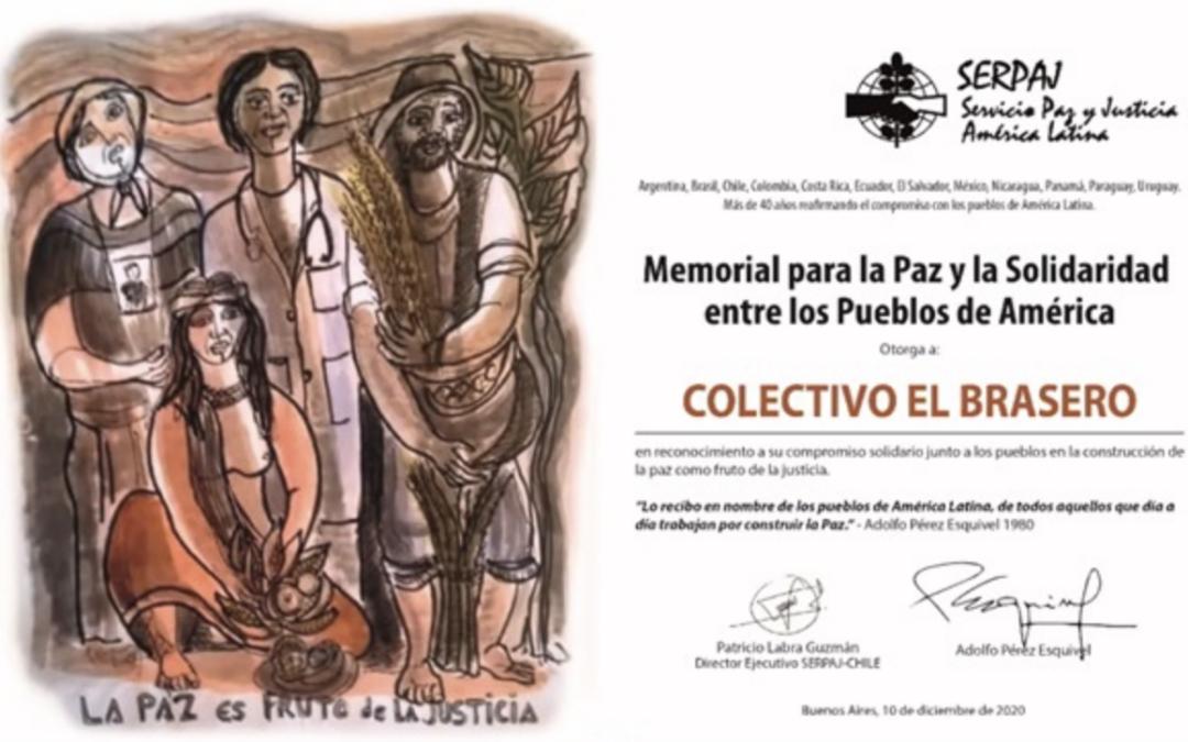 SERPAJ Chile reconoce a Colectivo El Brasero