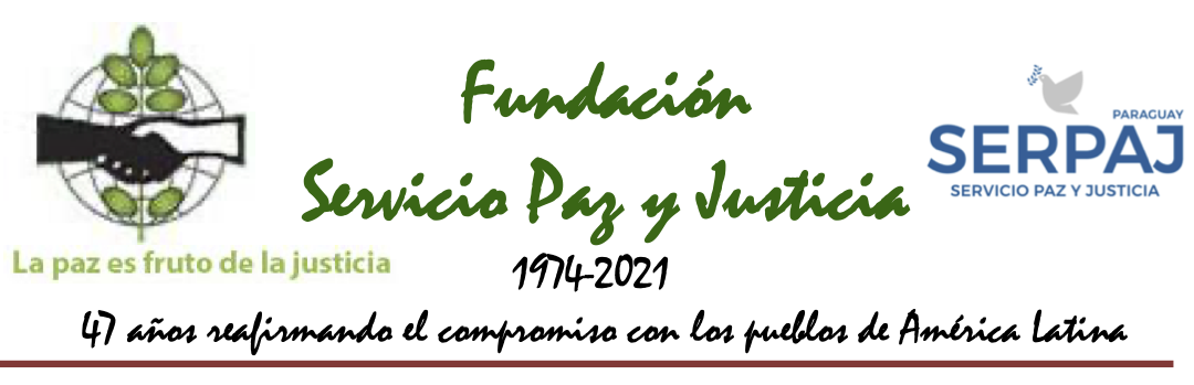 Carta de Adolfo Pérez Esquivel al presidente de Paraguay
