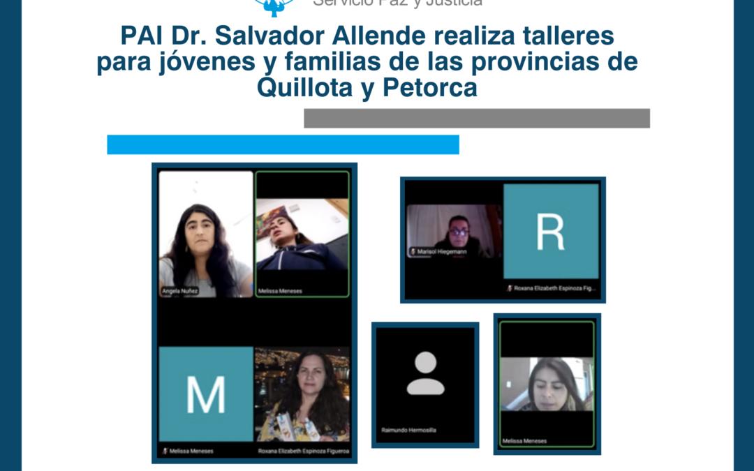 PAI Dr. Salvador Allende realiza talleres para jóvenes y familias de las provincias de Quillota y Petorca